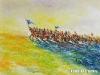 Mashbat Sambuu - On the move 1 - Oil on canvas - 60x80 cm