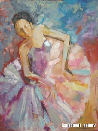 Amartsengel G. - Ballet 2 - Oil on canvas - 90x60 cm