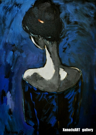 Bukhshandas D. - Moon girl - Oil on canvas - 73x53 cm