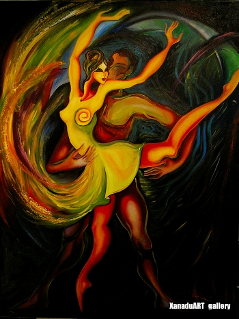 Narantsatsral G. - Midnght dance - Oil on canvas - 130x100 cm