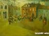 Boloroo M. - My street - Oil on canvas - 40x50 cm