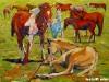 Chinbayar - Noon - Oil on canvas - 60x80 cm