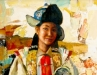 Chingis T. - A dancer - Oil on canvas - 99x53 cm