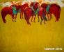 Khishigsuren B. - Horses - Oil on canvas - 45x50 cm