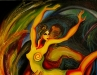 Narantsatsral G. - Midnght dance - Oil on canvas - 130x100 cm