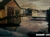 Uutrsaikh B. - Water street - Oil on canvas - 48x70 cm