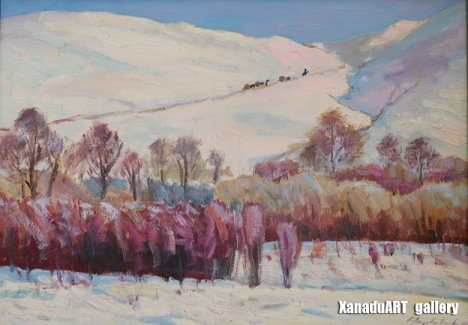 Amgalanbaatar G - Winter's colors - Oil on canvas - 60x86 cm