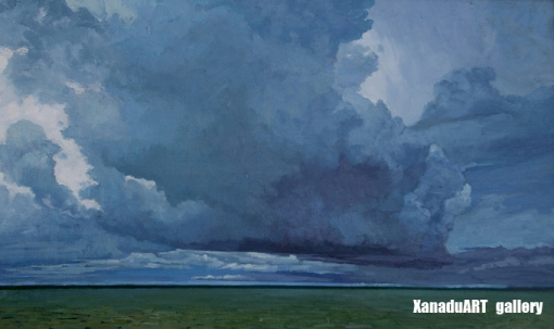 Ankhbaatar A. - Storm clouds - Oil on canvas - 70x100 cm