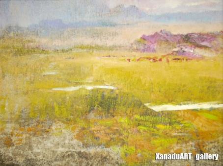 Baasansuren B - Summer - Oil on canvas - 40x50 cm