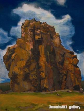 Badral Bold - Taikhar - Oil on canvas - 80x60 cm