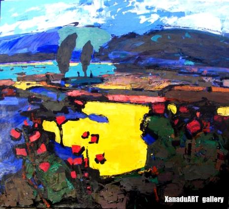 Bulgantuya D. - Spring - Oil on canvas - 100x90 cm