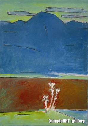 Dalkh-ochir Yondonjunai - Mount Suvraga  - Oil on canvas - 100x70 cm