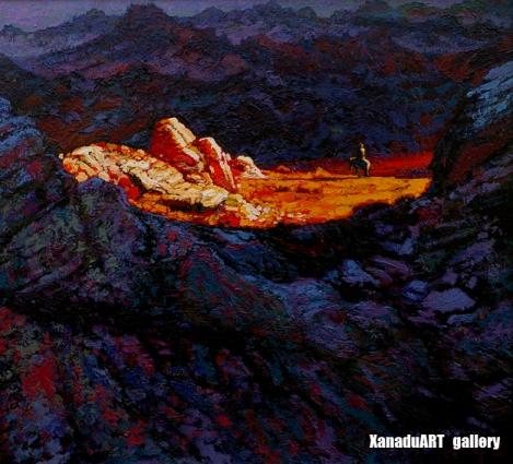 Erdenebat B. - Searching - Oil on canvas - 55x50 cm