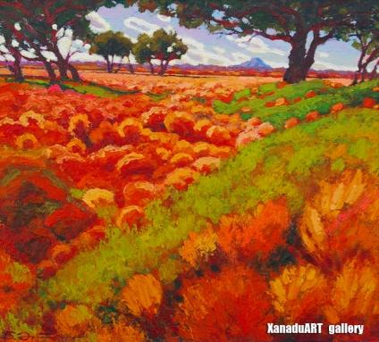 Erdenebat B. - Study - Oil on canvas - 40x40 cm