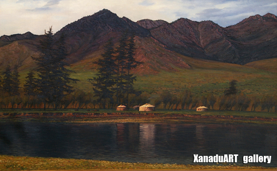 Ganbaatar B. - Midsummer - Oil on canvas - 80x120 cm