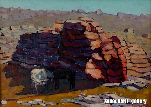Gansukh E. - Calm day - Oil on canvas - 24x33 cm