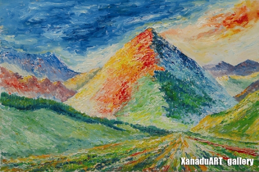Mashbat Sambuu - Mount Chandmani - Oil on canvas - 60x90 cm