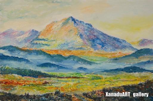 Mashbat Sambuu - Mount Suvraga - Oil on canvas - 60x90 cm