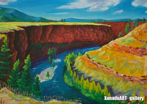 Odgerel Tsulbaatar - Chuluut river - Oil on canvas - 40x60 cm