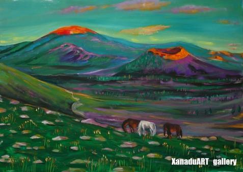 Odgerel Tsulbaatar - Khorgo - Oil on canvas - 50x70 cm