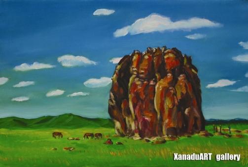 Odgerel Tsulbaatar - Taikhar -  Oil on canvas - 40x60 cm