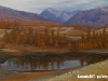 Ganbaatar B. - A cool autumn day - Oil on canvas - 80x110 cm