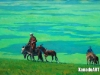 Gansuh E. - At the edge of the country - Oil on canvas - 50x90 cm