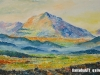 Mashbat Sambuu - Mount Suvraga - Oil on canvas - 60x90 cm