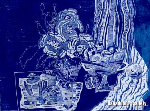 Suvd G. - Still life - Ink on paper - 32x45 cm