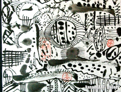 Tuvshinbayar M - Space seen I - Ink on paper - 20x23 cm