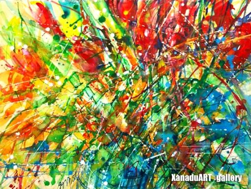 Yadamsuren Sh. - Cityscape - Watercolor on paper - 56x70 cm