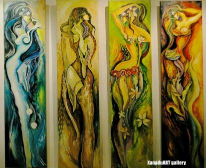 Zazaa - The four seasons - Acrylic on canvas - 160x160 cm