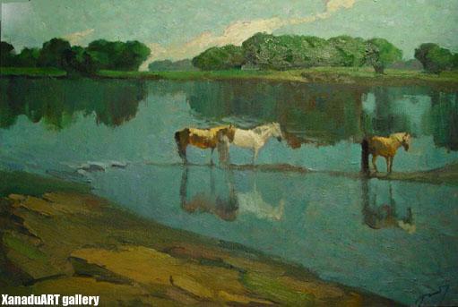 D.Ganbold - Noon - Oil on canvas
