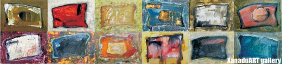 S.Ganzug -  Shagai 12 - Oil on canvas