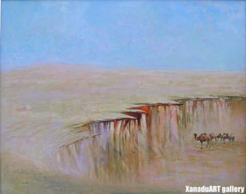 B.Vandan - Gobi - Oil on canvas - 122.9x95.2 cm