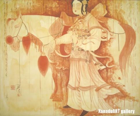 E.Naidandorj - Desire - Gouache on canvas - 130x160 cm